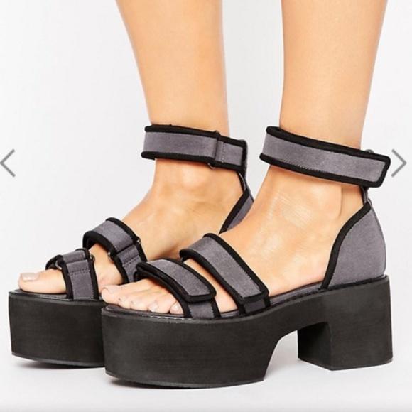 e9498cf36fb Asos Chunky Platform Heels Size 7
